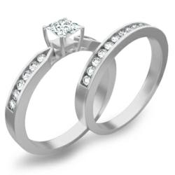 2 Carat Emerald engagement ring wedding set is on sale at JewelOcean.com