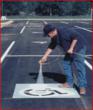 handicap parking lot stencils