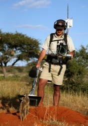 Rob Bruyns filming meerkats in 3D and 2D LIVE for WildEarth on Tswalu in the Kalahari
