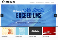 Intellum's new learning management website for Exceed