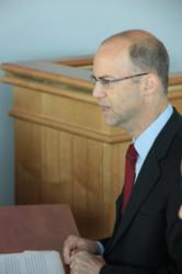 Jonathan Adelstein speaks with business and community leaders from the Eastern Shore region