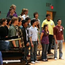 Choral music students