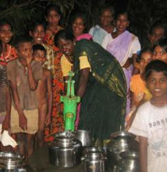 New water well for village in India