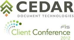 CEDAR Exhibiting at FIS Client Conference