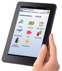 Kindle Fire with UPside Card application