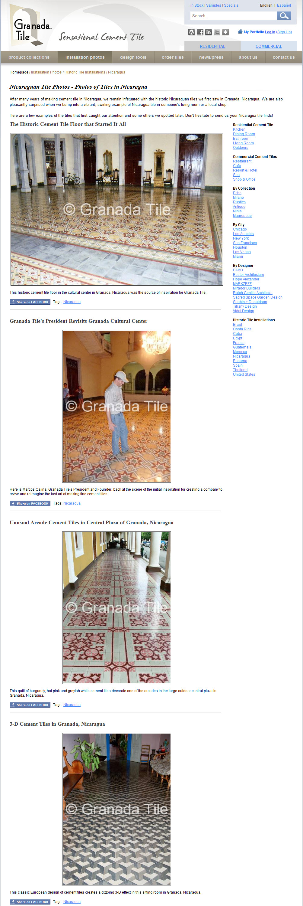 Granada Cement and Concrete Tile Launches an Expanded and