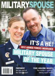 1st Male Spouse wins - Jeremy Hilton wins the 2012 Military Spouse of the Year Award
