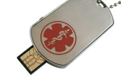 Engravable USB Medical ID