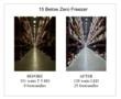 Before and After Pictures of Associated Grocers of New England Storage Lighting