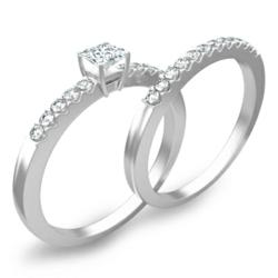 Silver Gemstone Rings for engagement available at cheap prices on JewelOcean.com
