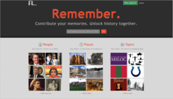 A screenshot of Remember.com's home page.