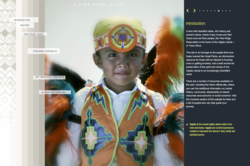 "Webby Award Winner ""The Pine Ridge Story"" Website by Redpoint Design Direction"