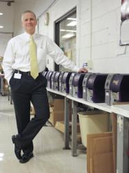 Vadeboncoeur with the 12 Pronto! barcode label printers