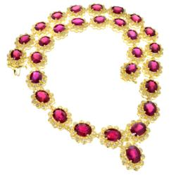 74.44CT Ruby & 5.89CT Diamond Necklace