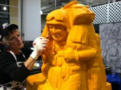 """Sarah """"The Cheese Lady"""" is a nationally recognized and Guinness World Record holder cheese sculptor."""