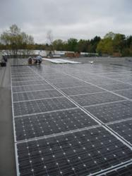 800 solar panels on the roof of Miller Recycling's Mansfield facility.
