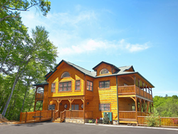 Cabins of the Smoky Mountains feature luxury cabin rentals of up to 18 bedrooms.