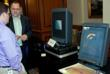 Stephen Hart demonstrates holograms