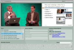 Reinvent the Webinar Screen shot - Instant Webinar from KnowledgeVision
