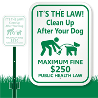 gI 97048 Clean Up After Dog Sign K 7341 DogPoopSigns.com Announces Launch of New LawnBoss? Dog Poop Signs