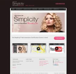 Simplicity Hair Extensions New Website And Stylist Online Certification At SimplicityHair