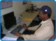 Blind Veterans training as Relay Operators