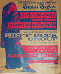 Janis Joplin 1968 Roller Rink Concert Poster in Alexandria, Virginia