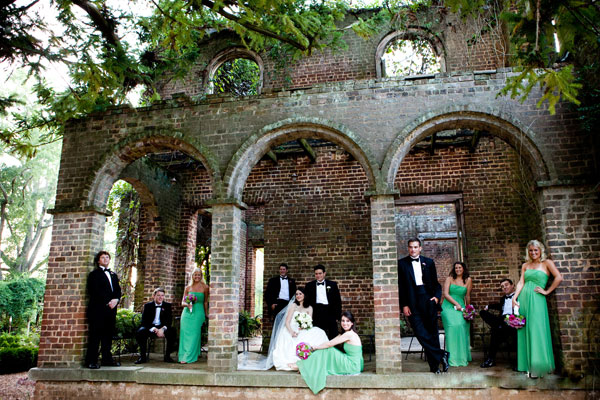 Bridal Party, Barnsley Gardens ...