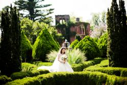 Bride in Georgia Wedding Gardens
