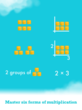 Master six forms of multiplication with this engaging math app