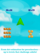 This multiplication app features dot estimation for preschoolers and levels that challenge adults