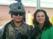 Woman and Army soldier
