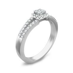 1 Carat Amethyst and Diamond Engagement Ring on JewelOcean.com