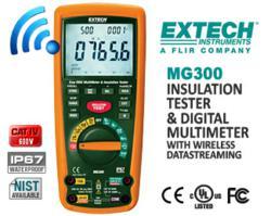 resistance, tester, insulation, dmm, multimeter, true rms, extech, mg300, fluke