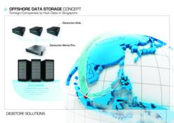 Offshore Data Storage Concept. Foreign Companies to Hub Data in Singapore.