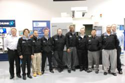 Group photo of York Tech/Okuma Apprentice program graduation.
