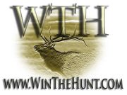 Win the hunt logo over deer head.