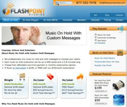 Flashpoint Studios music on hold website