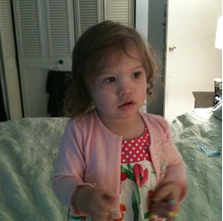 Audrey Reese 19 months old. Reportedly kidnapped from Columbia, Maryland 22 April 2012
