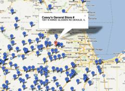 FreeAirPump.com maps free air locations across the U.S> and Canada