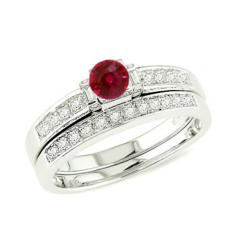 The Ruby Rings made with diamonds on JewelOcean is a good example of Ruby Engagement Rings