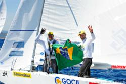 Scheidt and Prada enjoying their 3rd World Title after the end of the event