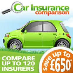 The new Car insurance comparison ad showing number of insurers compared.