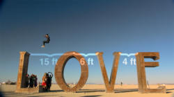 PJ Whitecotton at Burning Man doing Parkour on Love