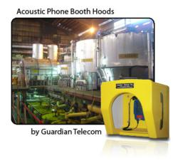 Acoustic phone booth hood
