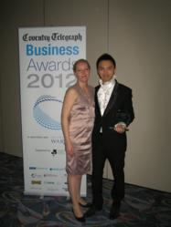 Luxury for Less Founder Chris Lee and Louise Prien (Head of Customer Service) Pictured with Award