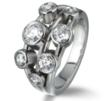 Bubble Seven Stone Diamond Ring