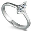 Marquise Shaped Diamond Engagement Ring