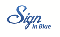 Electronic Signatures Simplified.  Sign In Blue