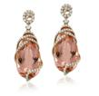 Morganite and diamond earrings from Yael Designs Lyra Collection